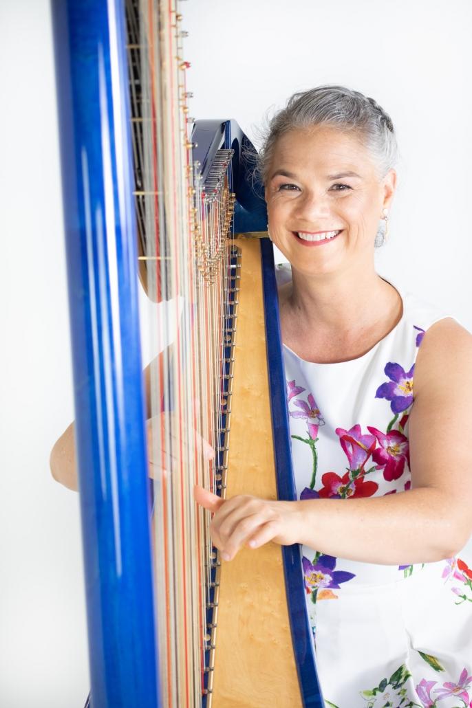 Harpist in Hawaii Pumehana